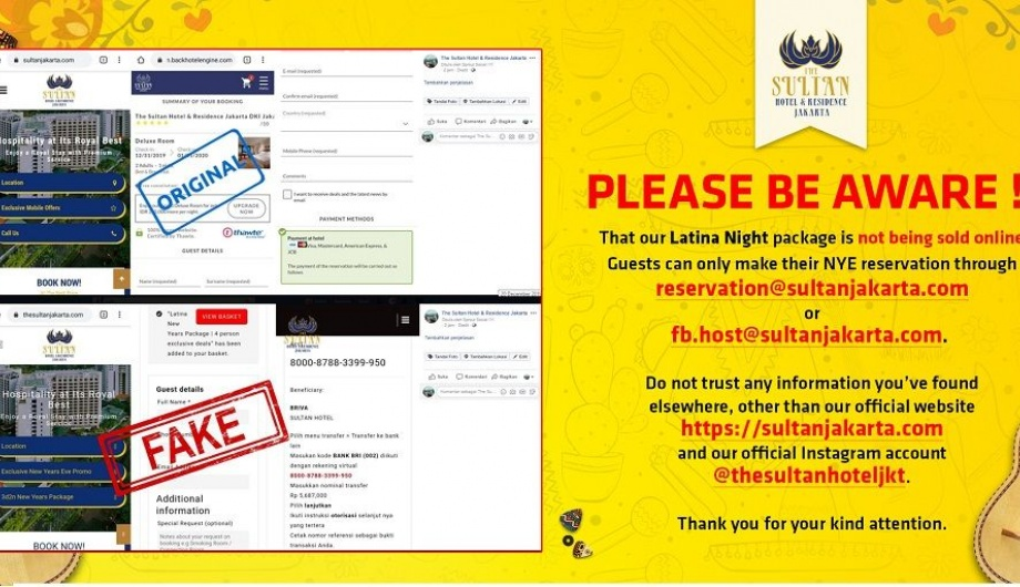 The Sultan Hotel & Residence's Official Website Has Been Breached